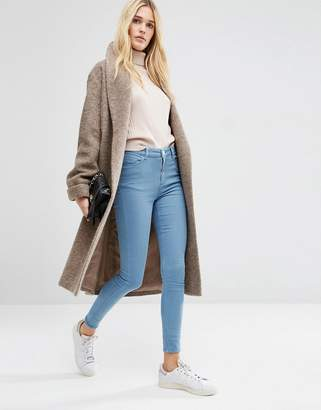 ASOS Oversized Knitted Coat in Wool Blend With Shawl Collar $106 thestylecure.com