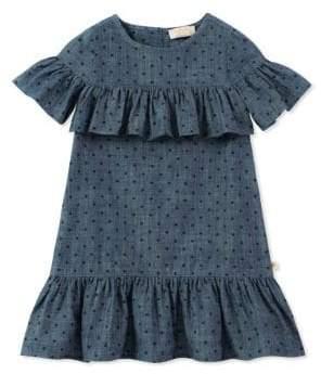 Kate Spade Little Girl's Ruffled Chambray Dress
