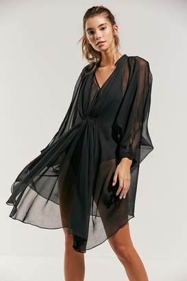 Urban Outfitters Chiffon Ruched Poncho