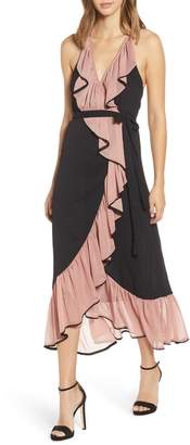 MISA Los Angeles Domanik Wrap Dress