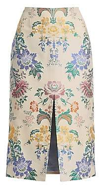 Carolina Herrera Women's Silk Floral Pencil Skirt