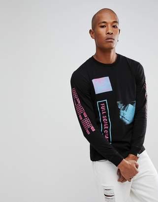 Billionaire Boys Club Long Sleeve T-Shirt With Full Scale Print