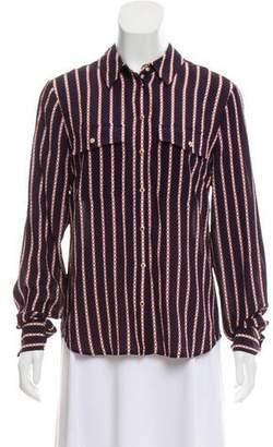 Veronica Beard Striped Silk Top