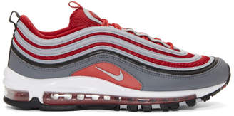 Nike Red and Grey Air Max 97 Sneakers