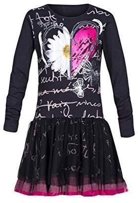 Desigual Girl's Printed Dress - Black