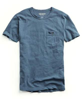 Todd Snyder Made in L.A. Garment Dyed Pocket T-shirt in Slate