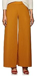 A.L.C. Women's Accordion-Pleated Georgette Palazzo Pants-Gold Size 8