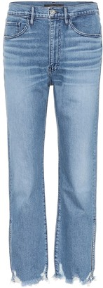 3x1 W4 cropped high-rise straight jeans
