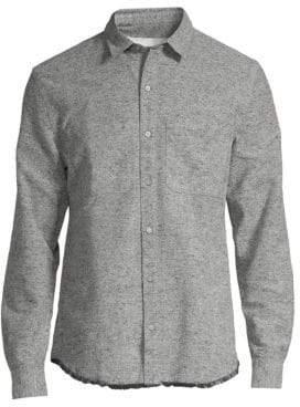 IRO Pyschedelic Raw Edge Button-Down Shirt