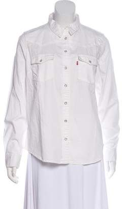 Levi's Denim Button-Up Top