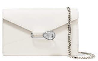 Alexander McQueen Pin Crystal-embellished Leather Shoulder Bag - White