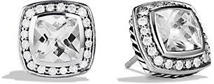 David Yurman Petite Albion Earrings with White Topaz and Diamonds