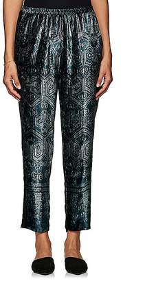 Giada Forte Women's Ikat-Inspired Velvet Crop Pants