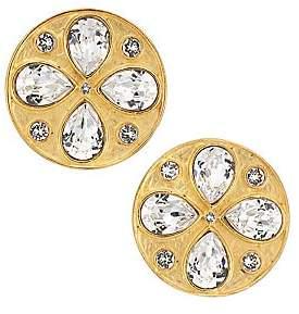Rebecca De Ravenel Women's Pamina 24K Goldplated & Swarovski Crystal Stud Earrings