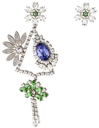 150f918fc Burberry Crystal Daisy Chandelier Earring and Stud Set