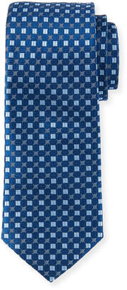 Neiman Marcus Men's High Float Pattern Silk Tie