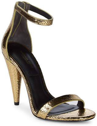 Michael Kors Ramsey Crackled Leather Ankle-Strap Pump