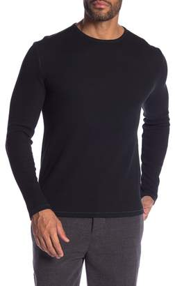 John Varvatos Waffle Crew Neck Long Sleeve Shirt