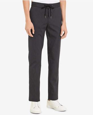 Calvin Klein Men's Pinstripe Drawstring Pants