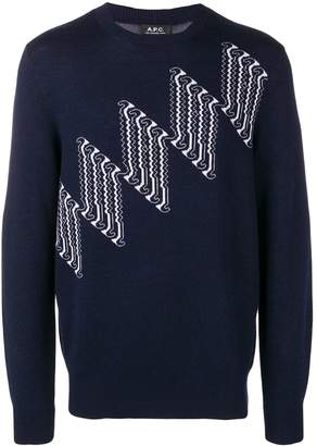 A.P.C. geometric patterned jumper