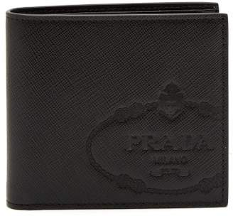 Prada Saffiano Leather Bi Fold Wallet - Mens - Black