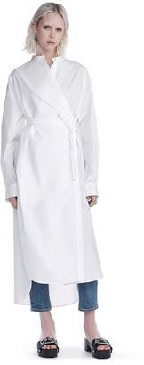 Alexander Wang Cotton Poplin Long Sleeve Shirt Dress
