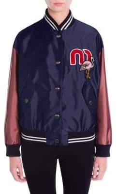 Miu Miu Bicolor Bomber Jacket