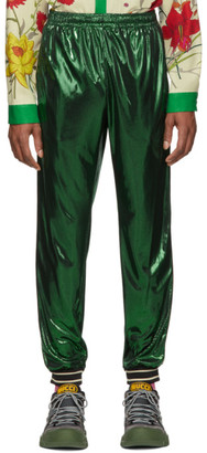 Gucci Green Laminated Oversized Lounge Pants