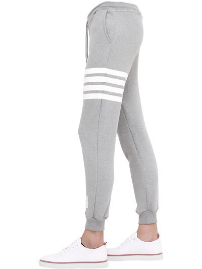 Stripes Printed Cotton Jogging Pants 4