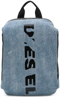 Diesel slashed logo backpack