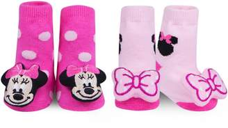 Waddle Disney Minnie Mouse 2-Pack Rattle Socks