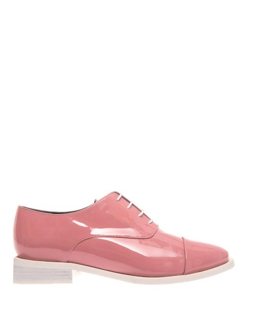 Amelie Pichard Coco patent-leather lace-up shoes