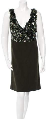 pradaPrada Embellished Wool Dress