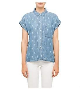 Rails Whitney Short Sleeve Tencel Denim Pinenapple Shirt