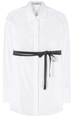 Reliable Cheap Online Valentino Woman Draped Cotton-poplin Shirt White Size 36 Valentino View In China Online Sale Low Price Fee Shipping 2qSZx