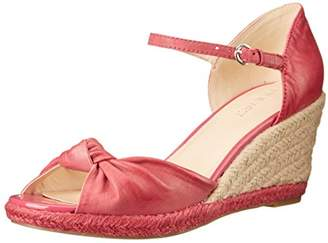 Nine West Women's Janelayne Leather Wedge Sandal