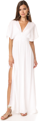 Ella Moss Shirred Maxi Dress $238 thestylecure.com