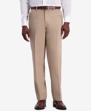 Haggar Men's W2W Pro Classic-Fit Performance Stretch Non-Iron Flat-Front Casual Pants