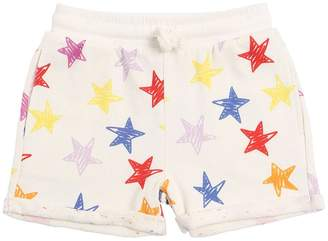 Stella McCartney Star Printed Cotton Sweat Shorts