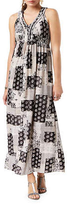 Style&Co. STYLE & CO. Petite Petite Printed V-Neck Maxi Dress