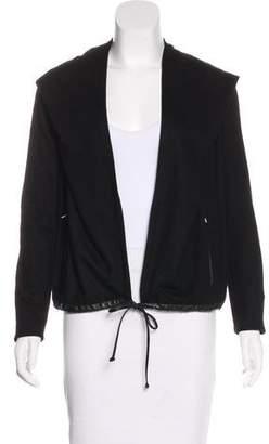 Helmut Lang Leather-Trimmed Wool Jacket