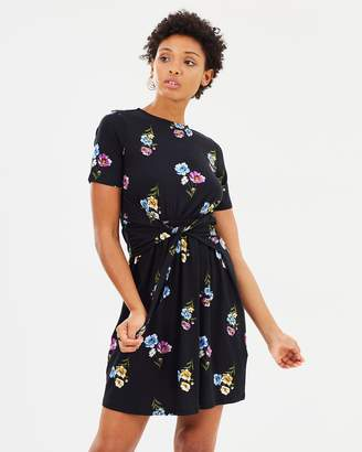 Warehouse Twist Front Dress