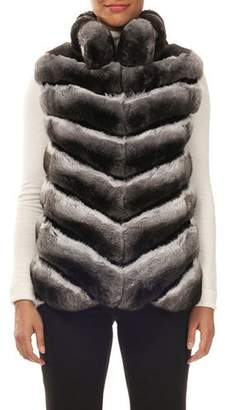 Gorski Chevron Chinchilla Fur Vest