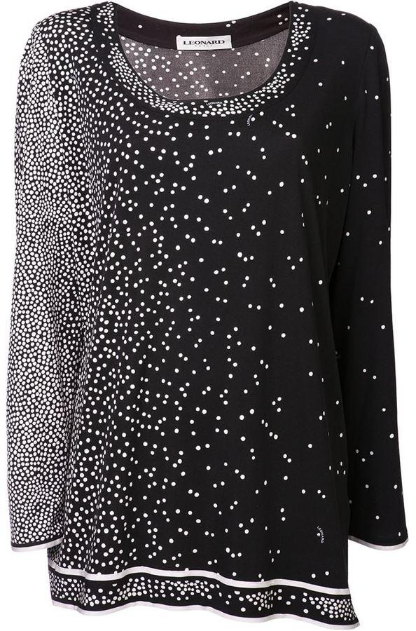 Leonard dotted blouse