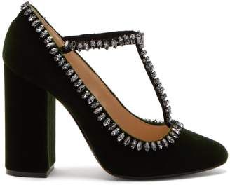 No.21 NO. 21 Crystal-embellished velvet pumps