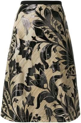 Odeeh floral print a-line skirt