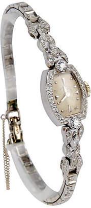 One Kings Lane Vintage Hamilton Platinum & Diamond Watch - N.P.Trent Antiques