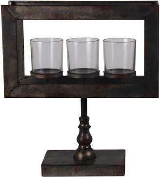 Privilege 3-Votive Metal Candle Holder On Stand