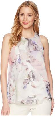 Vince Camuto Sleeveless Diffused Blooms Blouse Women's Blouse