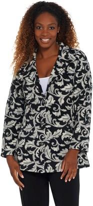 Susan Graver Printed Polar Fleece Button-Front Jacket